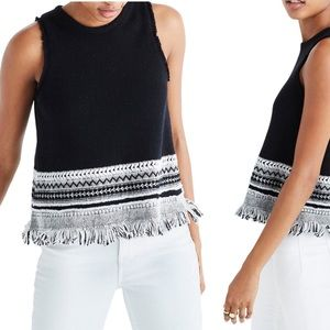 Madewell Villagrove Embellished Sweater Tank Top